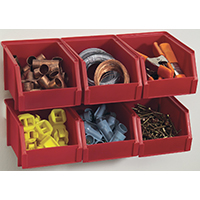 STORAGE BIN SMALL RED 6 PACK