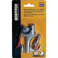 Stanley BTFP72330 Safety Blow Gun, 1/4 in FNPT x 1/8 in FNPT, Die-Cast Zinc, Chrome Plated