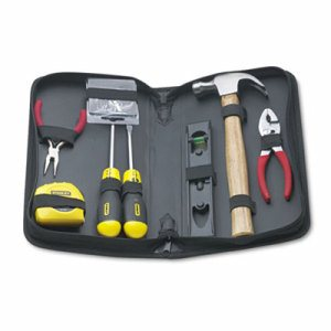 General Repair 8 Piece Tool Kit in Water-Resistant Black Zippered Case