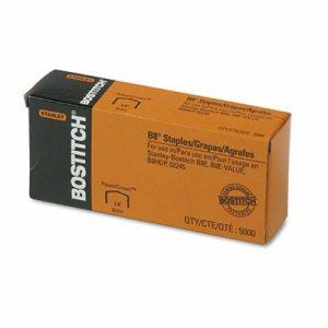"B8 PowerCrown Premium Staples, 1/4"" Leg Length, 5000/Box"