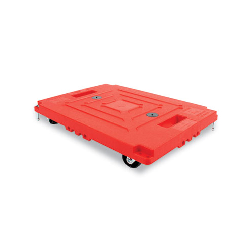 """Mule Dollies, 500 lb Capacity, 13.75"""" x 19"""" x 5"""", Red, 2/Pack"""