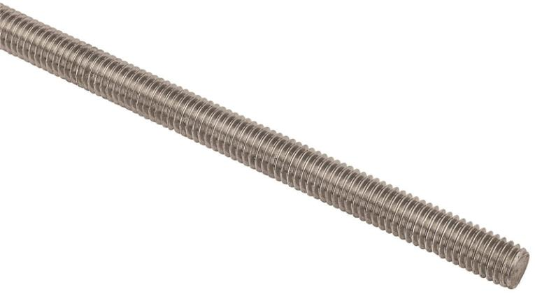 Stanley N218-248 Threaded Rod, 7/16-14 x 36 in, Stainless Steel