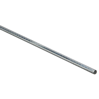 Stanley 179762 Round Rod, 1/4 in Dia x 36 in L, Steel, Zinc Plated