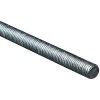 Stanley 179549 Threaded Rod, 5/8-11 x 36 in, Low Carbon Steel, Zinc Plated