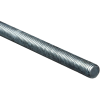 Stanley 179556 Threaded Rod, 3/4-10 x 36 in, Low Carbon Steel, Zinc Plated