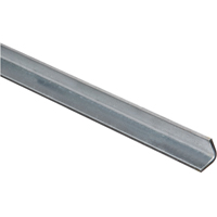 Stanley 179903 Equal Leg Angle, 3/4 in Leg x 11 ga T, 48 in L, Steel, Zinc Plated