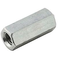 Stanley N227-884 Coupling Nut, 5/16-24 x 1 in, Steel, Zinc Plated