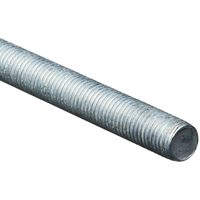 Stanley 179655 Threaded Rod, 7/8-9 x 72 in, Steel, Zinc Plated