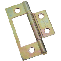 Stanley 402134 Non-Mortise Door Hinge, 8 Hole, 3-1/32 in L x 1-1/16 in W Door Leaf, Steel