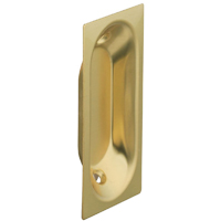 Lifespan 403516 Oblong Door Pull 2-3/4 in L x 1-5/16 in W, Solid Brass, Bright Brass