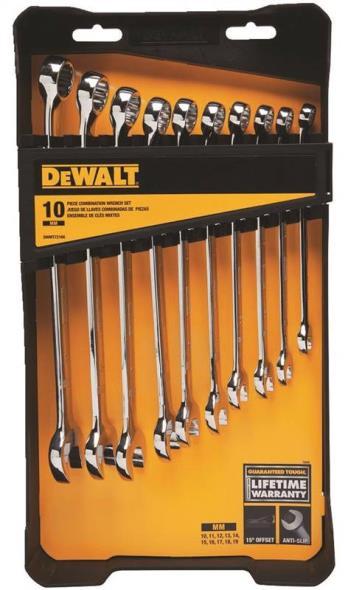 DeWalt DWMT72166 Combination Wrench Set, 10 Pieces