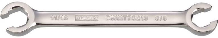 DeWalt DWMT75219OSP Flare Nut Wrench, Open End Wrench, 11/16 in OAL, 15 deg Offset, 5/8 in Offset