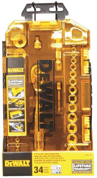SOCKET SET 1/4-3/8DR TOUGH BOX