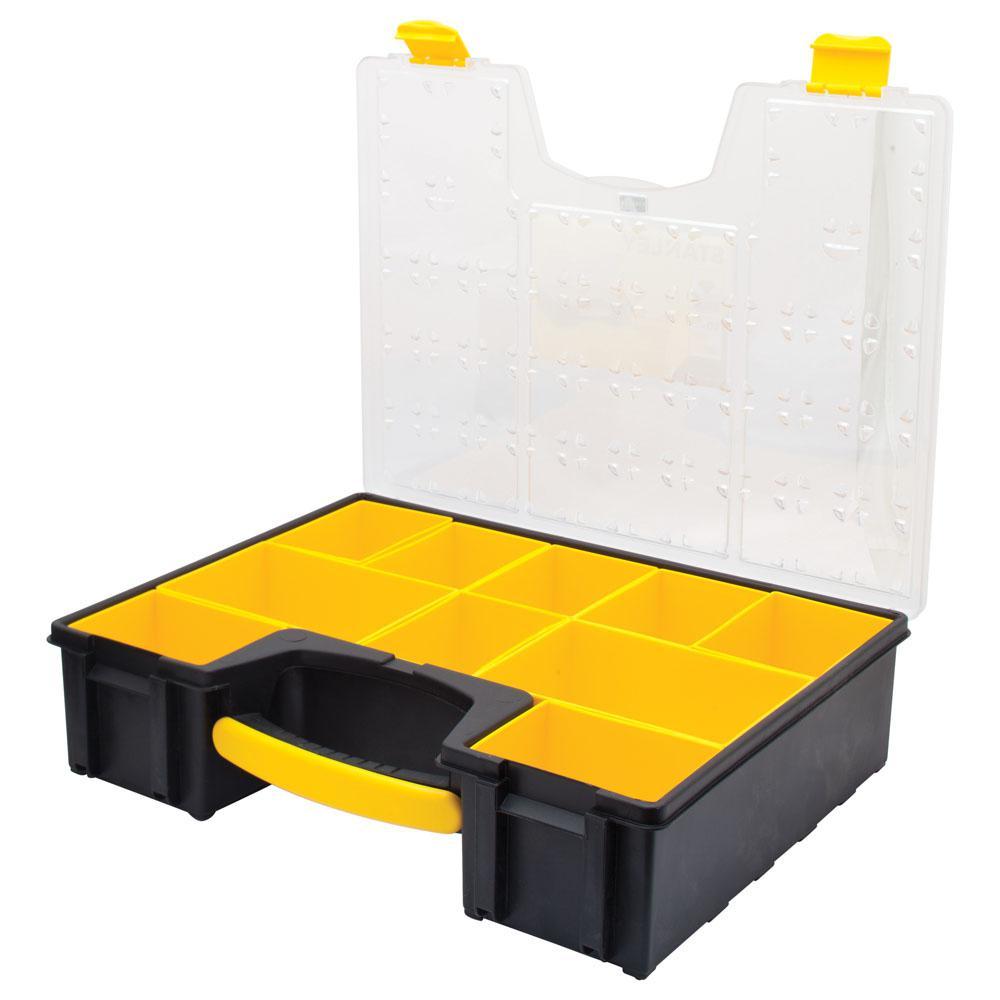 FatMax 014710R Professional Organizer, 17 in W X 19 in D X 4 in H, 10 Pocket, Crystal Clear Lid