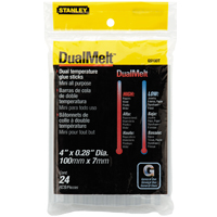 Stanley GS10DT Dual Temperature Mini Glue Stick, 0.28 in Dia X 4 in L, Clear, 0 - 356 deg F