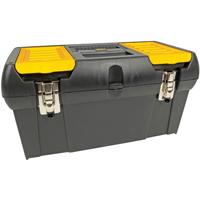 Stanley 2000 Tool Box 10.14 in W x 19 in D x 9.55 in H, 4.7 gal, Plastic, Black