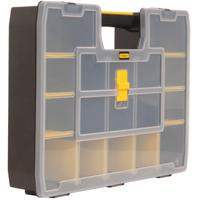 Black & Decker STST14027 Heavy Duty Stackable Tool Box Organizer, 12 in W 3 in H, Plastic, Black