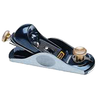 Bailey 12-920 Block Plane, 1-5/8 in W, Tool Steel Blade, Cast Iron, Epoxy Coating/Gray