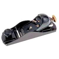Stanley 12-220 Block Plane, 1-5/8 in W, High Carbon Steel Blade, Cast Iron, Epoxy Coating/Gray