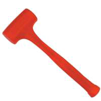 Compo-Cast 57-532 Non-Sparking Dead Blow Hammer, 21 oz, 2 in Dia, 12-7/8 in OAL, Molded Steel