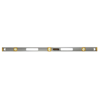 Stanley 42-076 Non-Magnetic Top Read Level, 0.002 in 48 in L, Aluminum