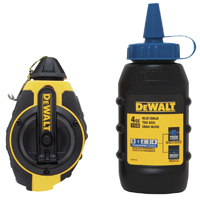 DeWalt DWHT47143 Heavy Duty Chalk Reel Kit, 100 ft L, 4 oz Capacity, Red