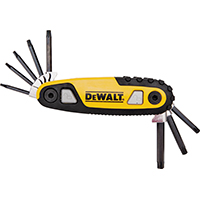 DeWalt Torx DWHT70264 Locking Hex Key Set, 8 Pieces