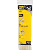 Stanley GS25DT Dual Temperature Glue Stick, 0.45 in Dia X 10 in L, Opaque