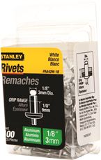 STANLEY� ALUMINUM RIVETS WHITE 1/8 IN. X 1/8 IN., 100 PACK