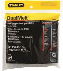 STANLEY� DUAL-TEMP STANDARD GLUE STICKS 4 IN., 24 PACK