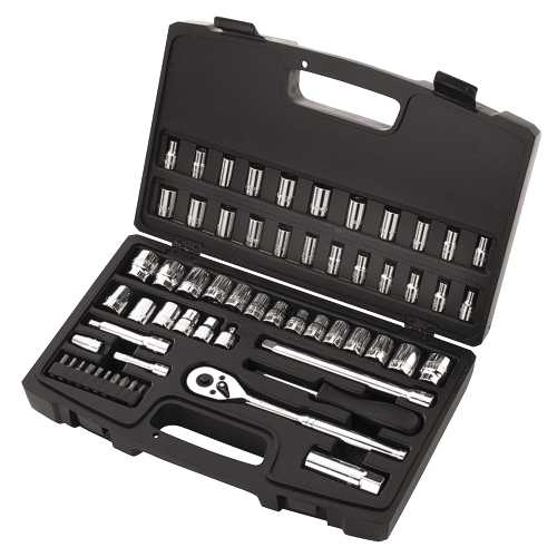 STANLEY� 60 PIECE SOCKET SET, 1/4 IN. AND 3/8 IN. DRIVES