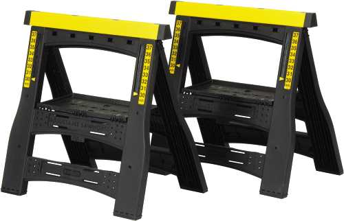 STANLEY� 2-WAY ADJUSTABLE SAWHORSE, 1,000-POUND CAPACITY, 2 PER PACK