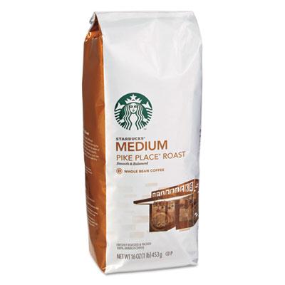 Whole Bean Coffee, Pike Place Roast, 1 lb Bag