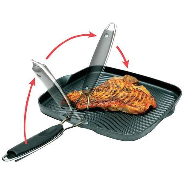 "STARFRIT 30036-006-SPEC 10"" x 10"" Grill Pan with Foldable Handle"