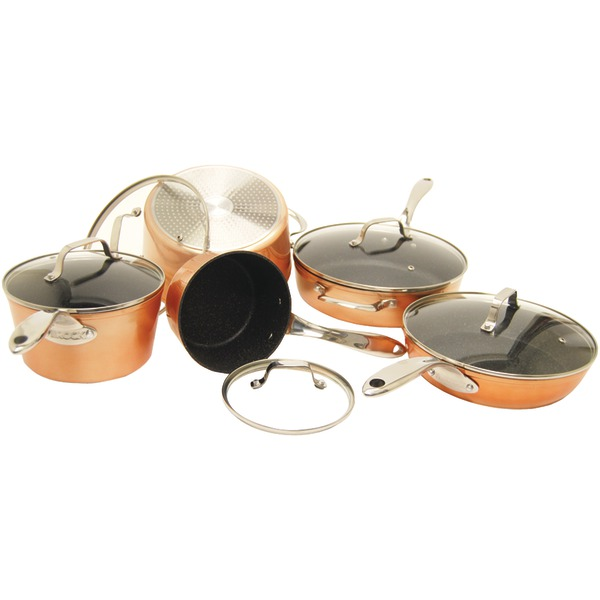 10PC COOKWARE COPPER