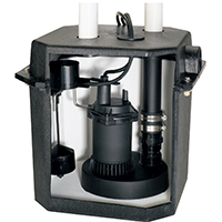 Sta-Rite FPOS1800LTS Heavy Duty Sink Pump System, 2880 gph, 1/4 hp, 115 V, 8.5 A, 60 Hz, 8 ft