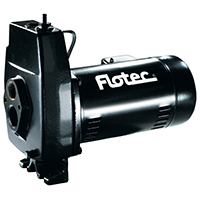 Flotec FP4222-08 Convertible Jet Pump, 3/4 hp, 1-1/4 in NPT Inlet, 1 in NPT Outlet, 230/115 V, 60 Hz, 6.19 A
