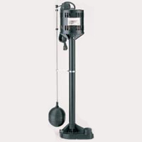 Simer 5020B Pedestal Sump Pump With Vertical Float Switch, 3480 gph, 1/3 hp, 115 VAC, 3.5 A