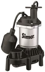 PENTAIR WATER PUMPS ZINC SUMP PUMP WITH PLASTIC BASE, TETHERED SWITCH, 1/4 HP