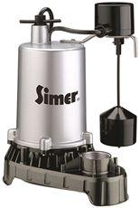 PENTAIR WATER PUMPS SUBMERSIBLE HIGH OUTPUT ZINC SUMP PUMP, VERTICAL SWITCH, 1/2 HP