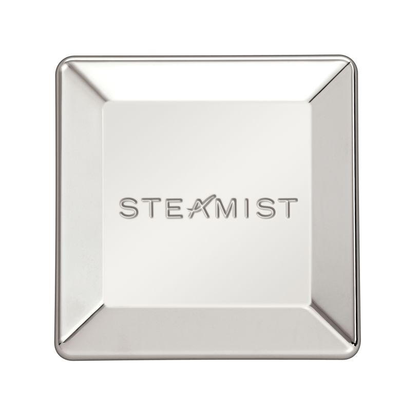 3 X 3 Steamhead & Escutcheon Polished Nickel