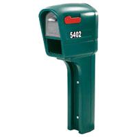 Mailmaster Trimline Plus 53300 Heavy Duty Mailbox 22-1/4 in W x 9-1/4 in D x 50-1/2 in H, Poly, Green