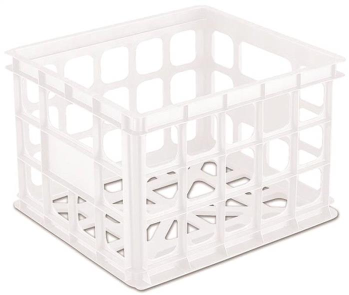 MILK CRATE 15X13X10 WHT