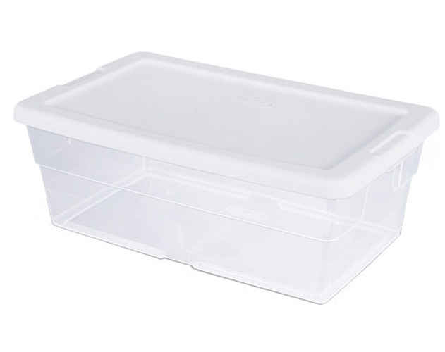 BOX STORAGE WHITE 6 QT
