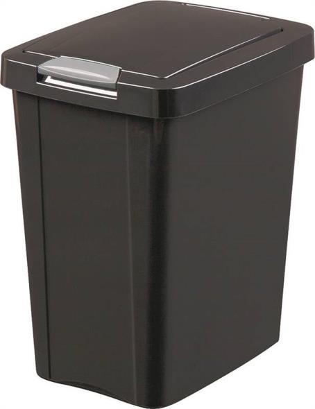 Sterilite Touch Top 1043 Wastebasket, 7.5 gal 14-1/2 in L x 11-1/4 in W x 17-3/4 in D, Polished