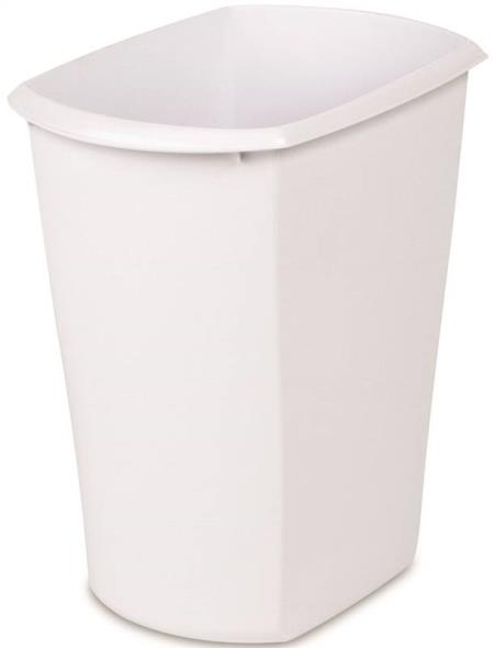 Sterilite 10518006 Rectangle Wastebasket, 3 gal 12-3/8 in L x 8-1/4 in W x 13 in D, Polished