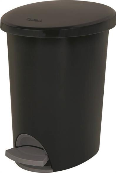 Sterilite Ultra 1081 Step-On Wastebasket, 2.6 gal 11-1/2 in L x 9-1/4 in W x 13-3/8 in D, Black