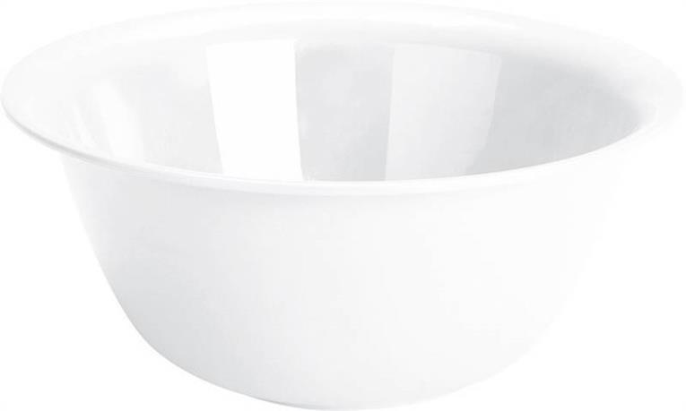 Sterilite 07118012 Mixing Bowl, 6 qt, Plastic, White