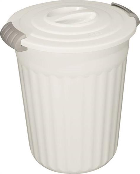 Sterilite 11368006 Latching Utility Can With Lid, 14-5/8 in L x 13-1/4 in W x 16-5/8 in H