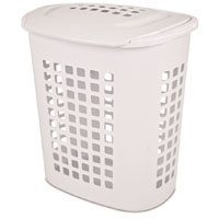 HAMPER LAUNDRY WHT 2.3 BU